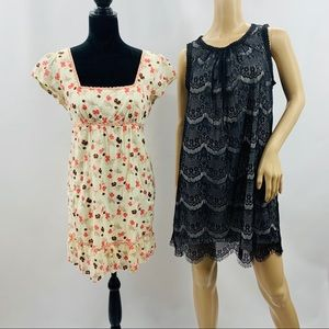 Forever 21 Cream & Lace Two Dress Collection